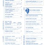 The Brass Onion Dinner menu